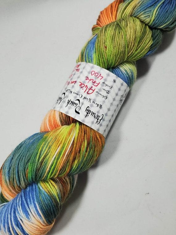 Tim Burton's Alice in Wonderland sock yarn