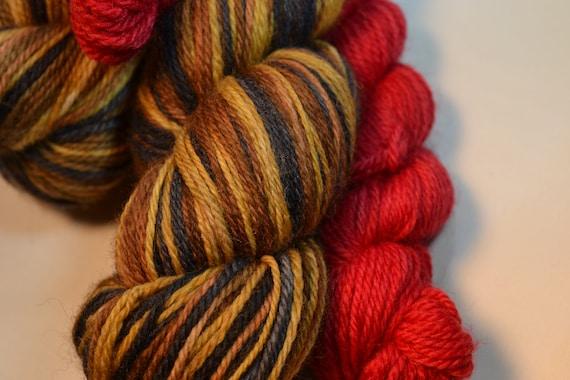 Rudolph Self Striping  sock set yarn