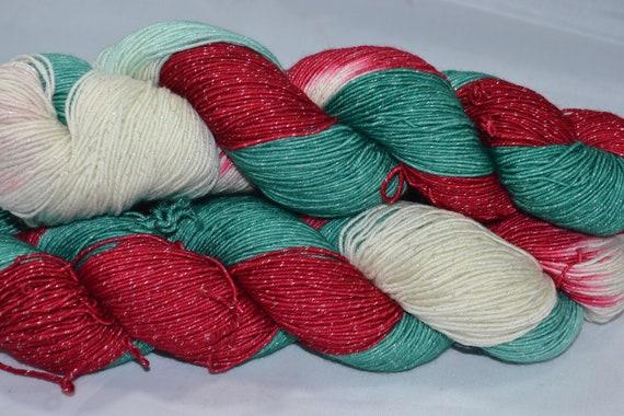 Candy Cane Christmas 410 yds sock yarn