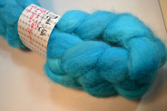 Turquoise Chevoit wool Roving