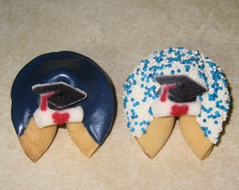 Congratulations Gift Cap and Scroll Achievement 50 GRADUATION Red /& Black Fortune Cookies
