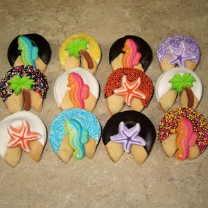 Party Luau Bahamas Birthday Celebration Corporate 100 TROPICAL Fortune Cookies Dolphin Cruise Summer Vacation Sand Beach Hawaii