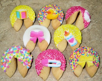 Items similar to 24 Custom Fortune Cookies, Good Fortune, Personalized Cookies, Baby Shower, Cookies for Parties, Anniversary,Bridal Shower on Etsy