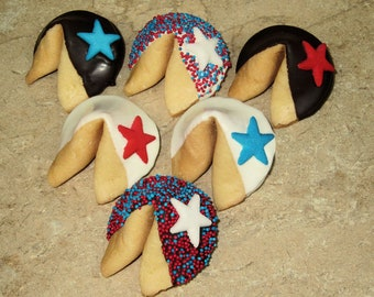 STARS Fortune Cookies FREE Shipping Birthday 4th of July Navy Air Force Congratulations 24 U.S Military Army Graduation Patriotic