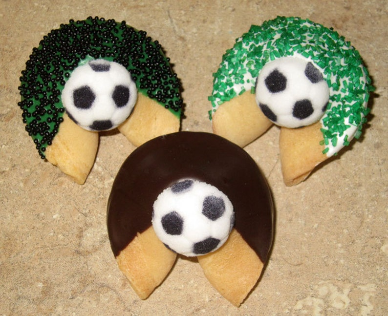 Corporate Fathers Day Get Well Birthday Congratulations Sports Baby 24 SOCCER Fortune Cookies Balls Graduation BarBat Mitzvah