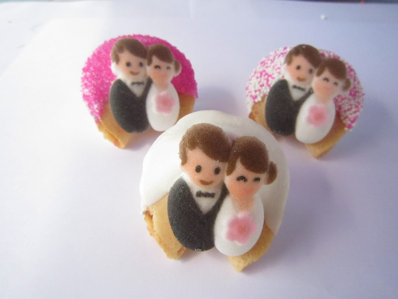 Bridal Shower Favors Wedding Party Favors Bridal Gift 12 Pink BRIDE /& GROOM Fortune Cookies Wedding Gift