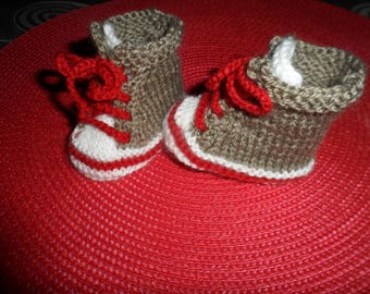 Baby sneakers made of wool (0-3 months)
