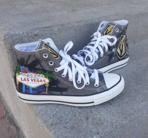Las Vegas Golden Knights Custom Converse Chucks   Etsy