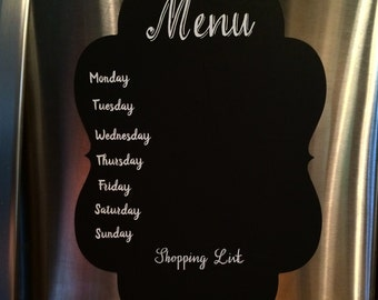 Chalkboard Menu Decals