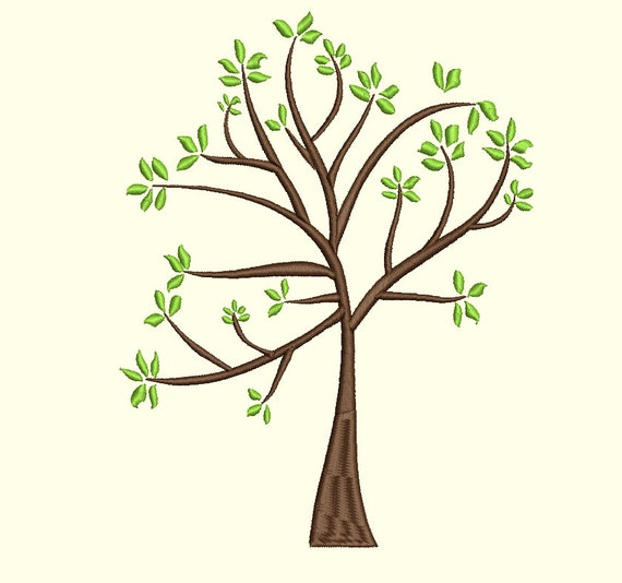 family tree embroidery design use to create your own family etsy