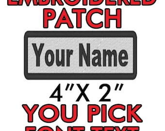 Custom Patch Vest Biker Motorcycle Rocker Name Patches for Jackets Gray on black1