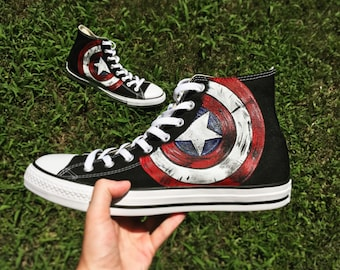 Custom Adult Converse-Captain America Shields e42647ffed