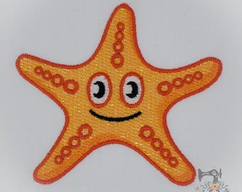 Mylar Applique Starfish - Machine Embroidery File - Instant Download