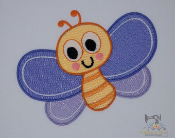 Mylar Applique Butterfly - Machine Embroidery File - Instant Download