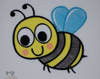 Mylar Applique Bee - Machine Embroidery File - Instant Download