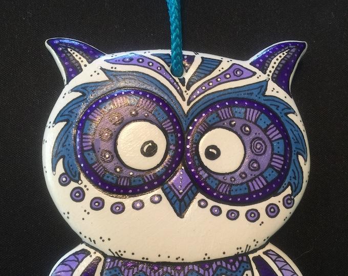 Ceramic Owl Ornament