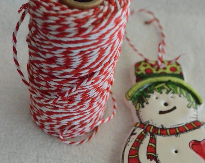 Ceramic Snowman Ornament