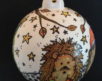 Ceramic Hedgehog Ornament