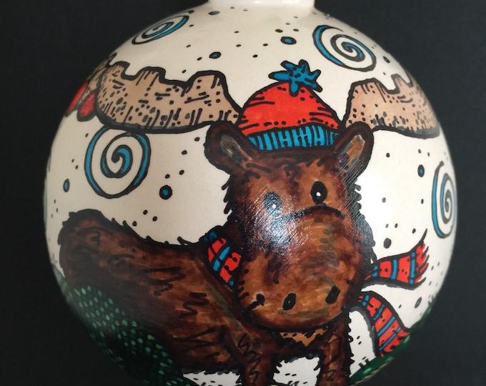 Ceramic Moose Ornament