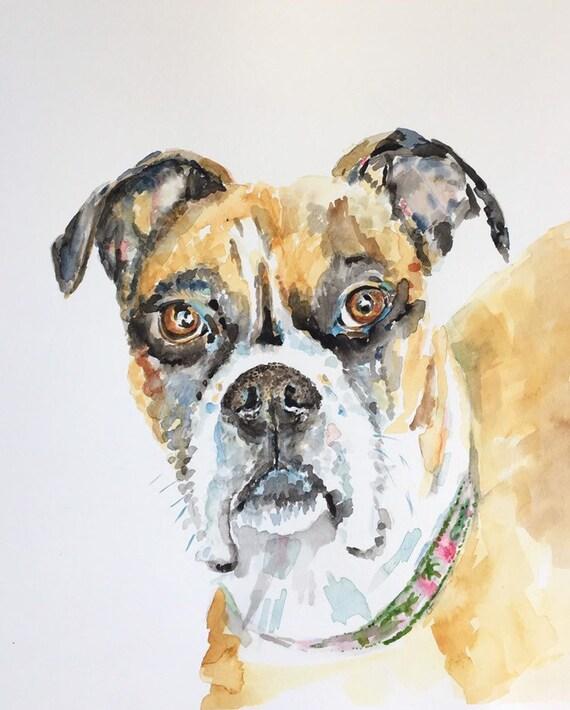 Custom Animal Watercolor Portrait