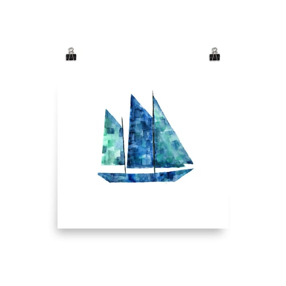 Watercolor Boat Art Print