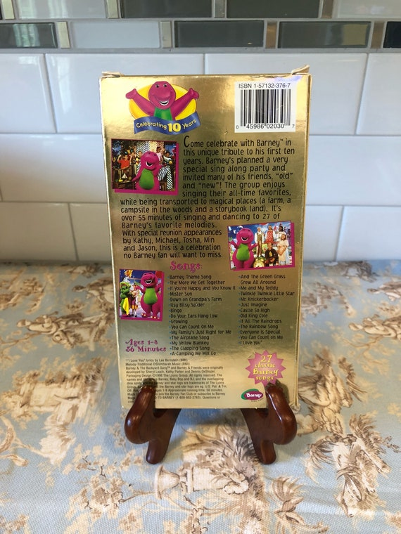 1998 sing and dance with Barney ~ celebrating 10 years ~ 27 classic Barney  songs ~ vintage