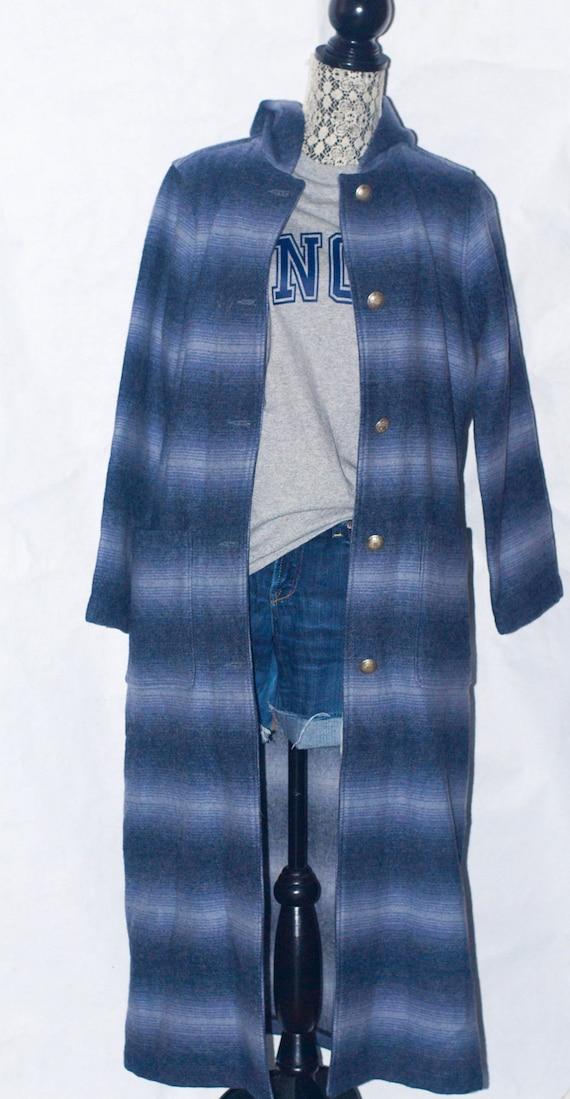 Vintage WOOLRICH John Rich & Bros Blanket Hooded … - image 1