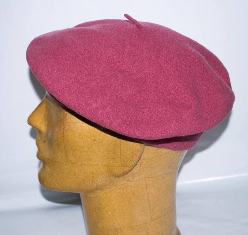 87994b8598fc1 Parkhurst Classic Wool Basque Salmon Beret. Made In Canada.