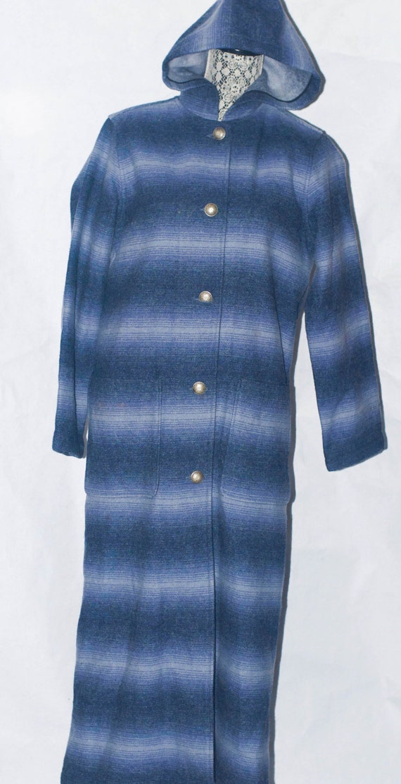 Vintage WOOLRICH John Rich & Bros Blanket Hooded … - image 2