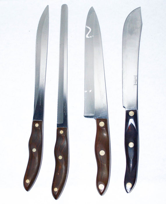 Cutco 4 Piece Knife Set Chef Butcher Carving Slicer 1023 1024 1025 1722 Knives