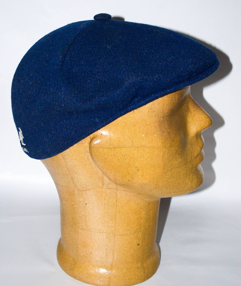 5dc61874dba Vintage Kangol Design Wool 504 Dark Blue Flat Driving Cap