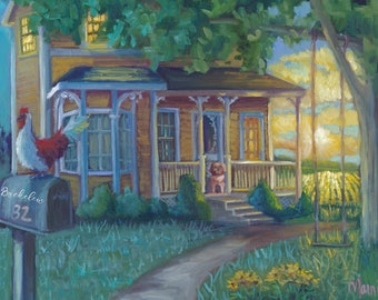 Homestead Summer, prints, customized prints, art prints, custom art, custom prints, original art, personalized art