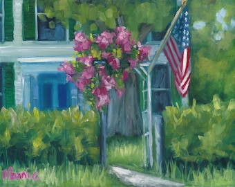 Blooming,  11x 14, , oil painting, original art, ready to hang, americana