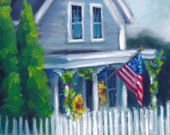 Central Village Welcome,   painting, landscape, country art, ready to hang