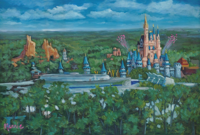 Afternoon delight paintinglandscape art disneyworld image 1