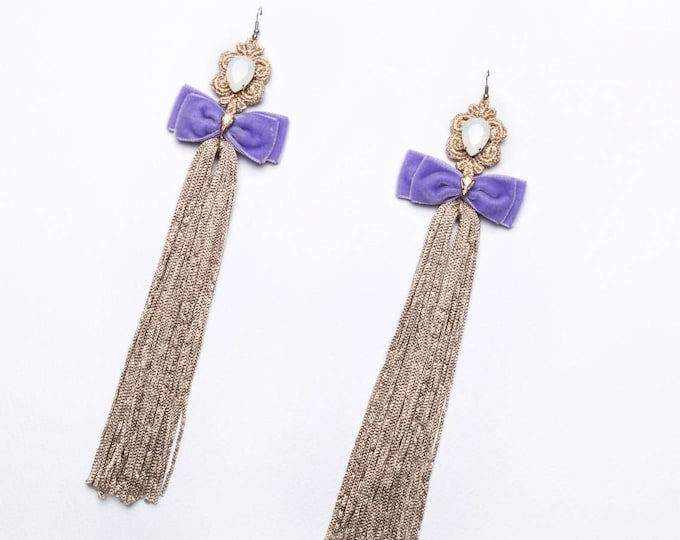 Featured listing image: Long tassel velvet earrings