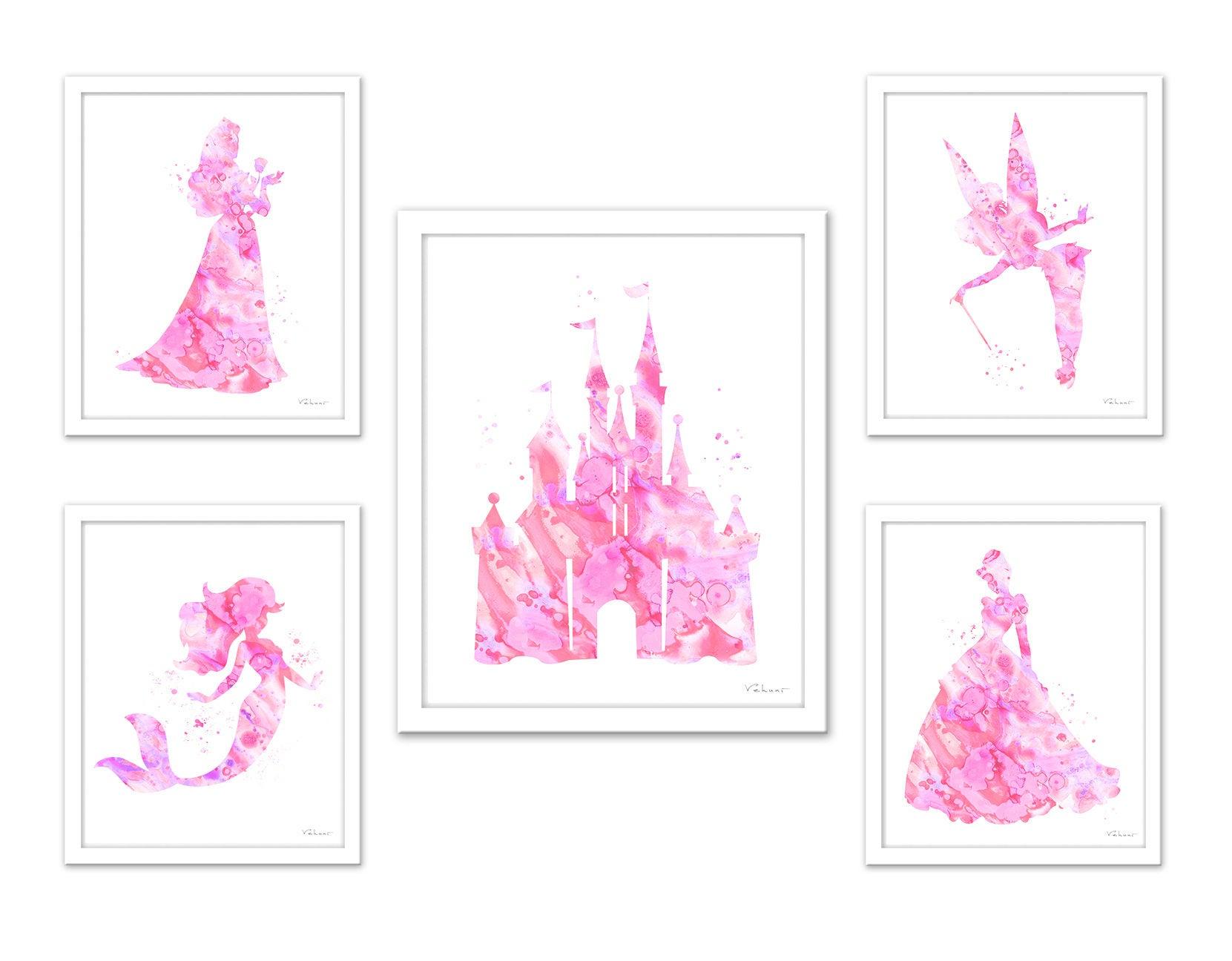 Soft pink princess art Disney princess light pink princess