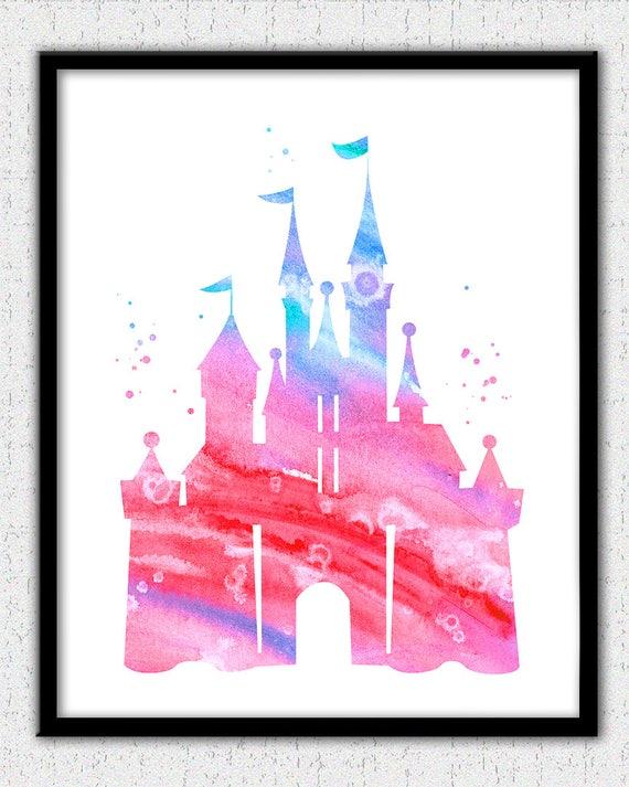 Cinderella Castle Wall Art Disney Princess Castle Print Etsy