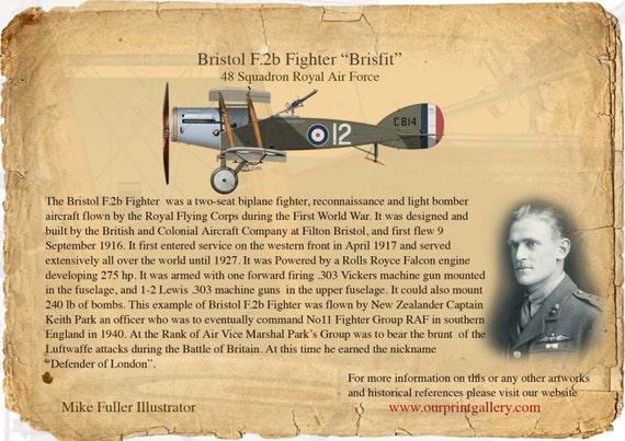 Bristol F2b Fighter WWI RAF Plane Aircraft Christmas Xmas Card Pack of 5