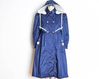 vintage 90s jacket, babydoll jacket, sailor jacket, kinder jacket, 90s clothing, navy blue white, dolly coat, puff sleeves, bow jacket, XS