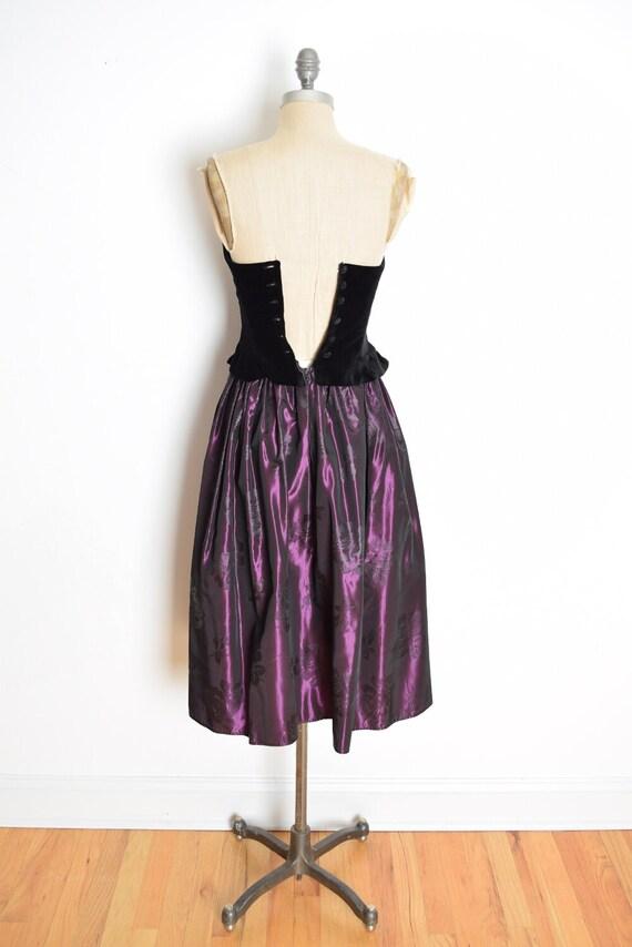 vintage 90s Laura Ashley dress velvet taffeta str… - image 6