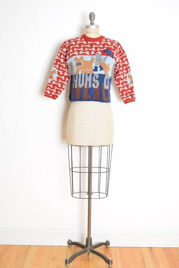 vintage Y2K 2000 sweater OILILY dogs wool jumper t