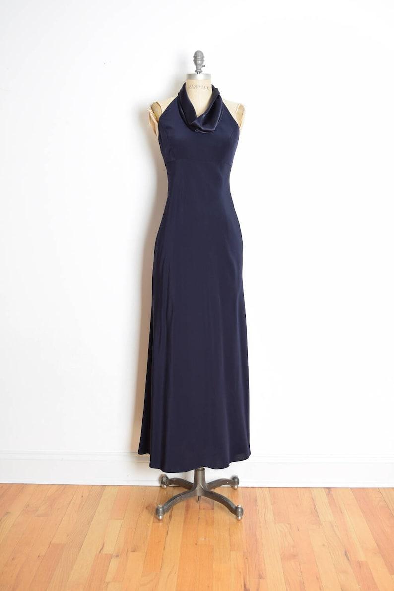 00fde09088 Vintage 90s dress 90s prom dress jones new york navy blue