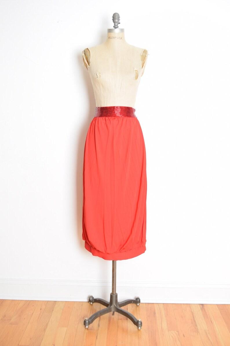 Bill Blass Skirt Vintage 70s Skirt Red Beaded Skirt 70s Etsy