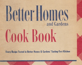 1947 Better Homes And Gardens Ring Bound Recipe Book In Very Good Vintage Condition. Gift Quality.