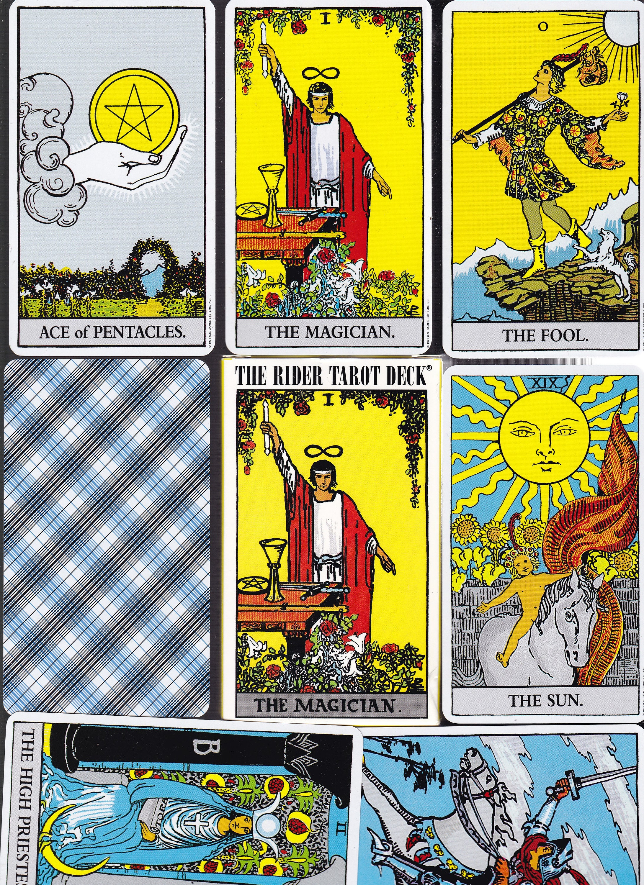 Replacement Cards: Rider Waite Tarot Deck. Single Cards in