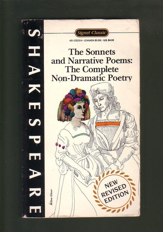 Shakespearethe Sonnets And Narrative Poems The Complete Etsy