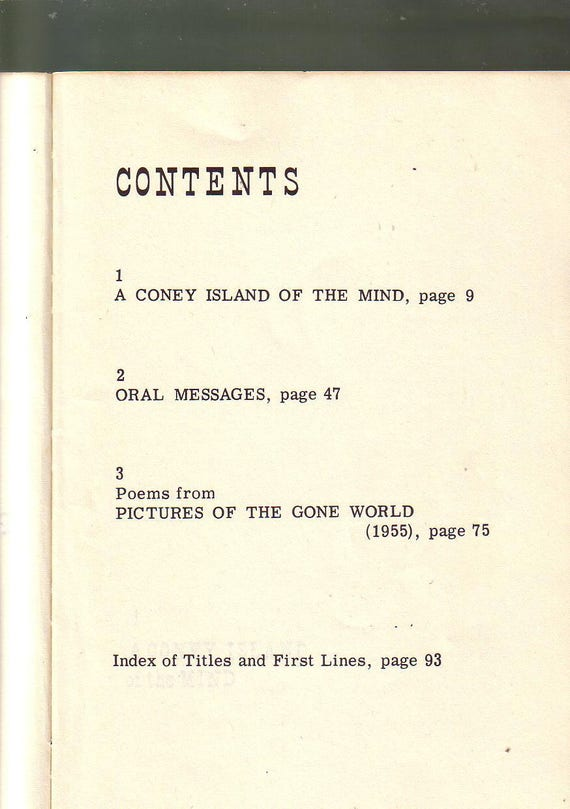 A Coney Island Of The Mind Poems By Lawrence Ferlinghetti 1958 35th Printing Paperback In Very Good Used Condition