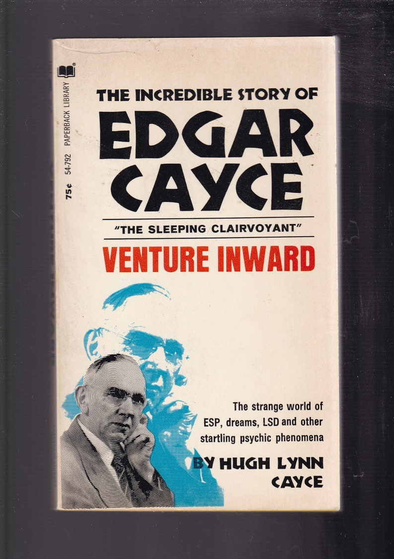 Edgar Cayce: Venture Inward  1969 8th Printing Paperback in Very Good  Condition
