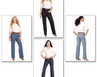 f01a55fdc53 McCalls Sewing Pattern M5894 Misses  Women s Straight-Leg or Boot-Cut Jeans